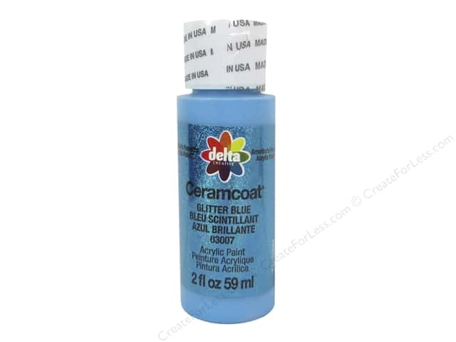 Ceramcoat Acrylic Paint by Delta 2 oz. #3007 Glitter Blue