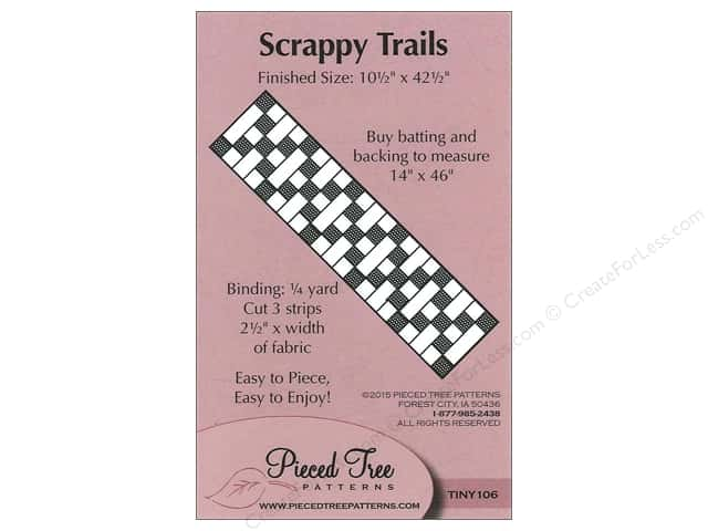 Pieced Tree Tiny Scrappy Trails Pattern Card