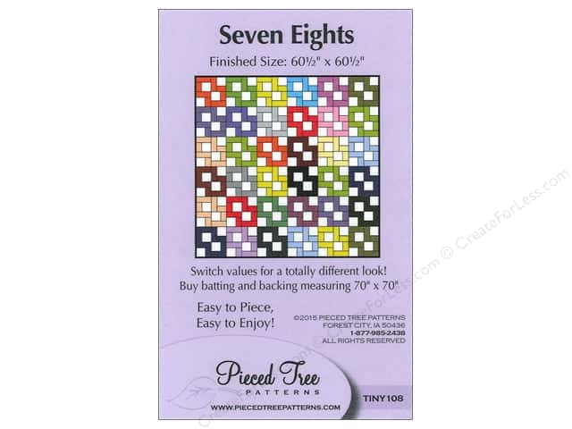 Pieced Tree Tiny Seven Eights Pattern Card