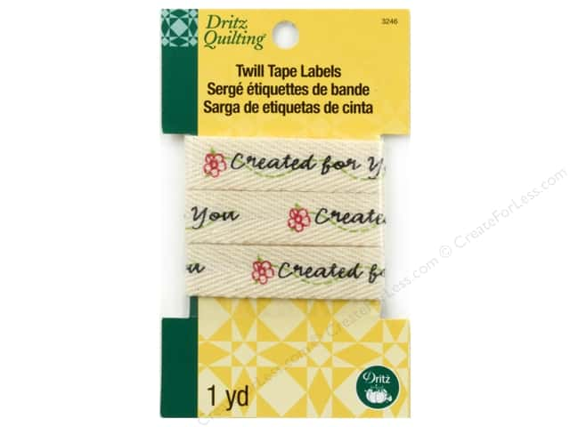 Dritz Twill Tape Labels Created for You 36 in.
