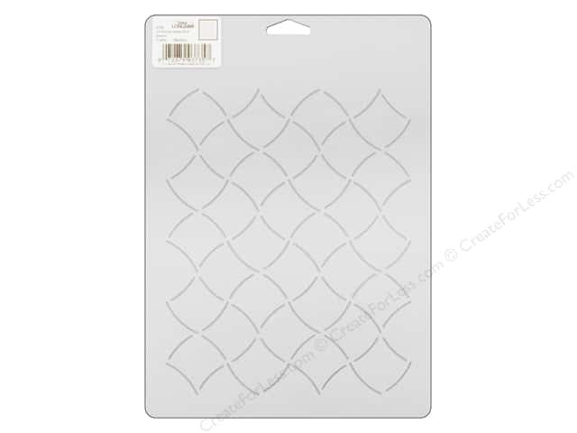 Dritz Quilting Stencil Longarm Allover Wavy Grid 7 in.