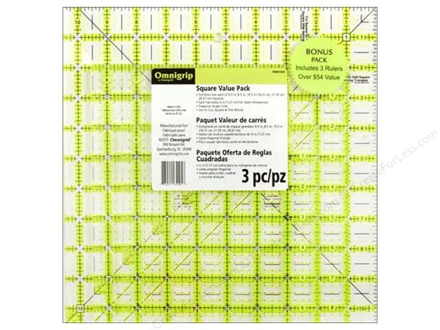 Omnigrid Omnigrip Ruler Combo Pack 3 pc.