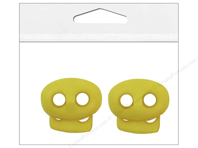 Petersen-Arne Mini Cord Locks 1/8 in. Yellow 2 pc.