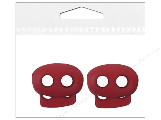 Petersen-Arne Mini Cord Locks 1/8 in.  Red 2 pc.