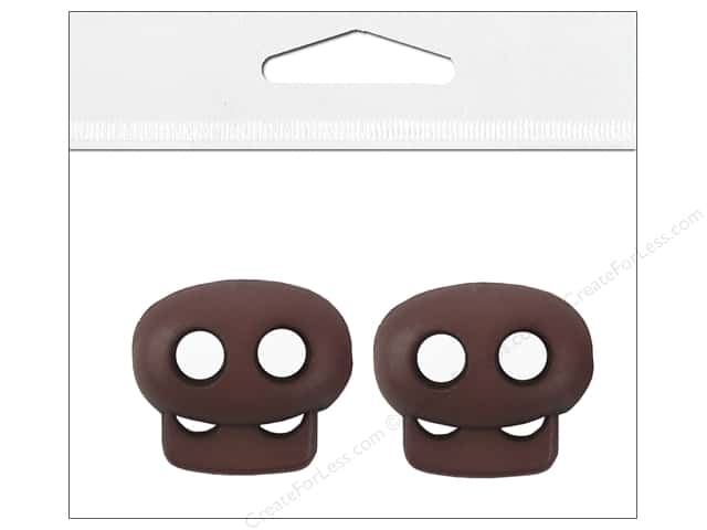 Petersen-Arne Mini Cord Locks 1/8 in. Brown 2 pc.