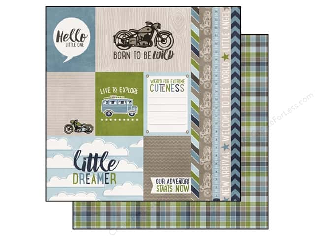 Echo Park 12 x 12 in. Paper My Little Boy Collection Journaling Cards (15 sheets)