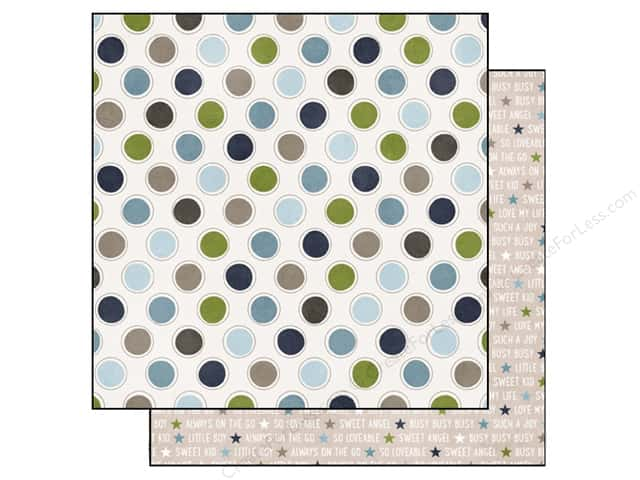 Echo Park 12 x 12 in. Paper My Little Boy Collection Dots (15 sheets)