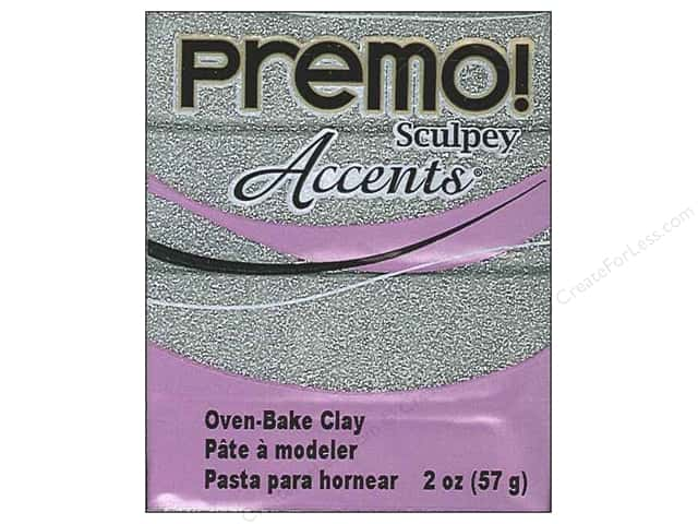 Premo! Sculpey Polymer Clay 2 oz. Glitter White Gold