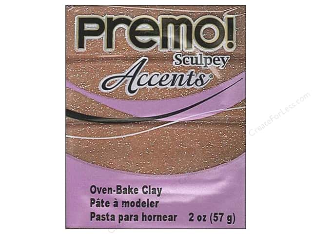 Premo! Sculpey Polymer Clay 2 oz. Glitter Rose Gold