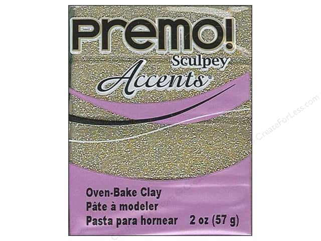 Premo! Sculpey Polymer Clay 2 oz. Glitter Yellow Gold