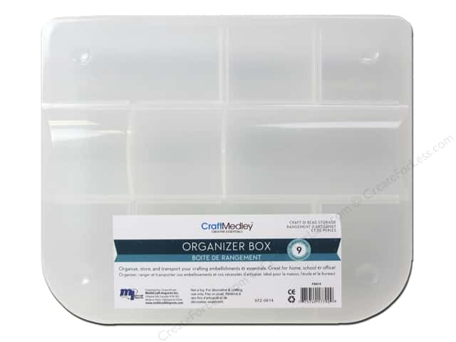 Multicraft Organizer Box Craft & Bead 9 Compartment