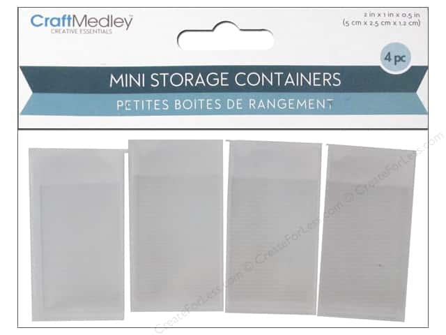 "Multicraft Organizer Storage Container 2""x 1""x .5"" 4pc"
