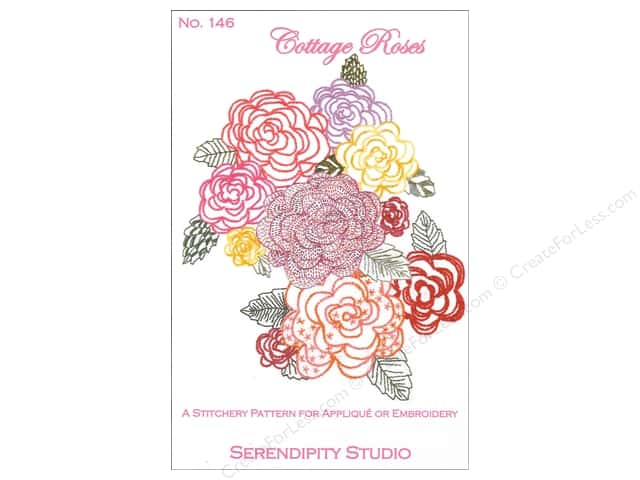 Serendipity Studio Stitchery Cottage Roses Pattern