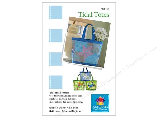 Poorhouse Quilt Designs Tidal Totes Pattern