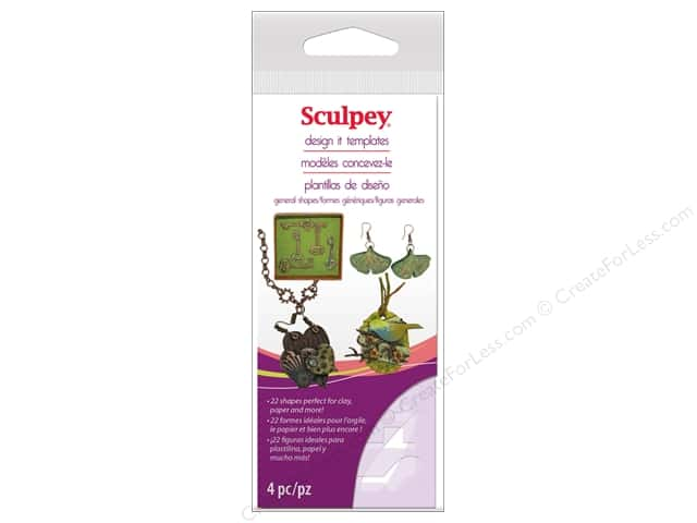 Sculpey Clay Tools Design It Template General Shapes