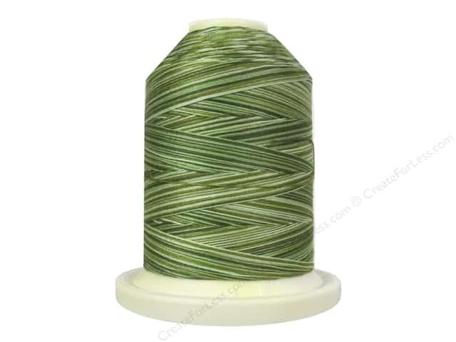Signature 100% Cotton Thread 700 yd. #M85 Variegated Grassy Greens