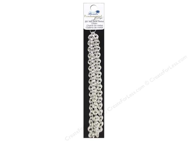 Sweet Beads Fundamental Finding Cable Chain #10 25 in. Silver
