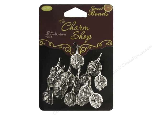Sweet Beads Charms Metal Lily 16 pc. Silver