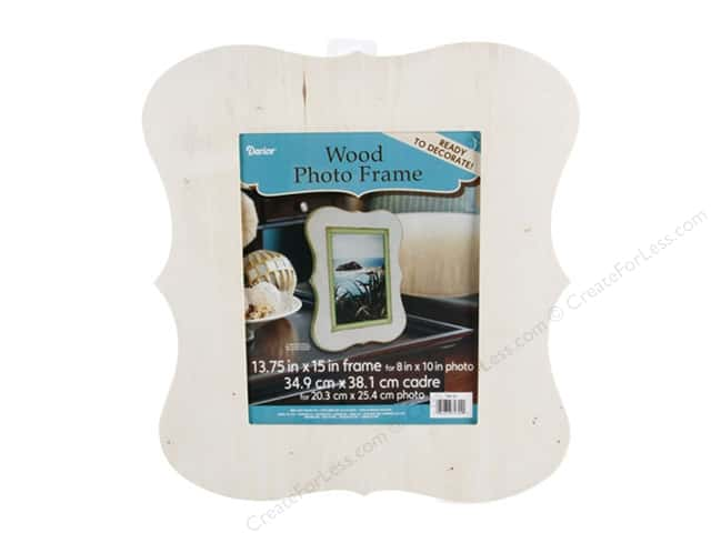 Darice Wood Chippendale Photo Frame Unfinished 13 3/4 x 15 in.