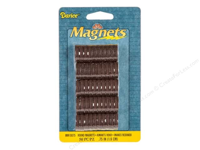 "Darice Magnet Round 3/4"" High Energy 50pc"