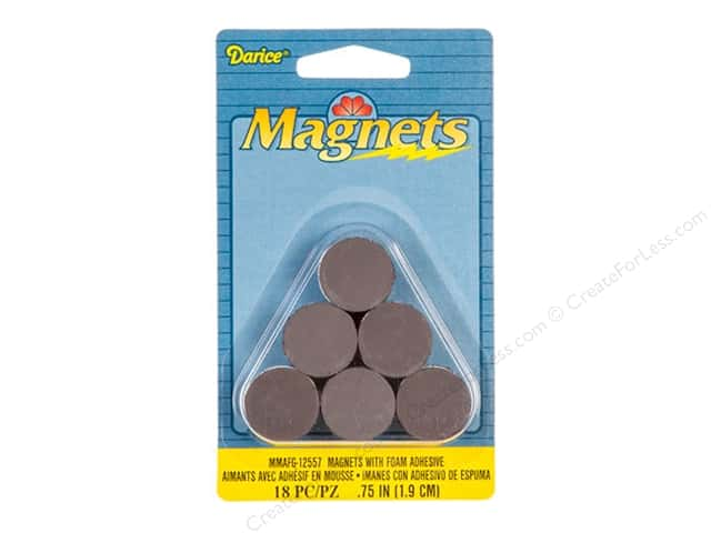"Darice Magnet Round 3/4"" with Foam Adhesive 18pc"