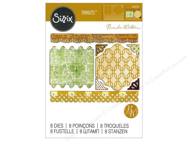 Sizzix Thinlits Die Set 8 pc. Toppers, Borders & Corners