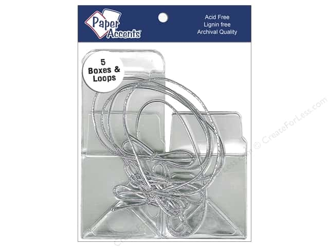 Paper Accents Crystal Clear Box 2 x 2 x 2 in. 5 pc. Clear With Silver Loops