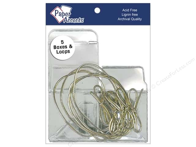 Paper Accents Crystal Clear Boxes 2 x 2 x 2 in. 5 pc. Clear With Gold Loops