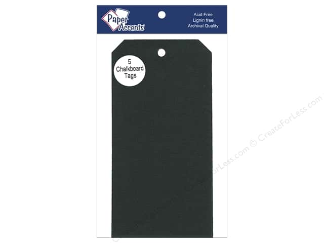 Craft Tags by Paper Accents 3 1/8 x 6 1/4 in. 5 pc. Adhesive Chalkboard