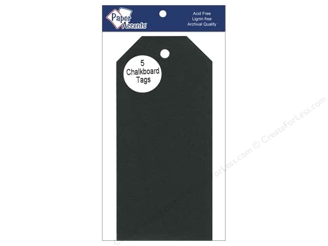 Craft Tags by Paper Accents 2 1/2 x 5 1/4 in. 5 pc. Adhesive Chalkboard