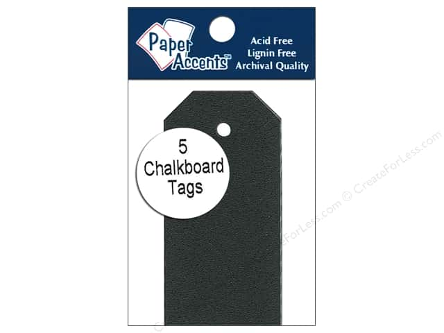 Craft Tags by Paper Accents 1 1/4 x 2 1/2 in. 5 pc. Adhesive Chalkboard