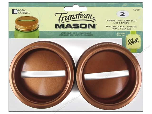 Loew Cornell Transform Mason Lids & Bands Bank Slot Copper