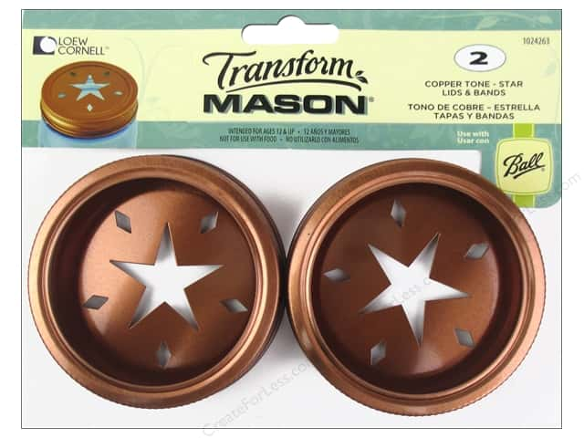 Loew Cornell Transform Mason Lids & Bands Star Copper