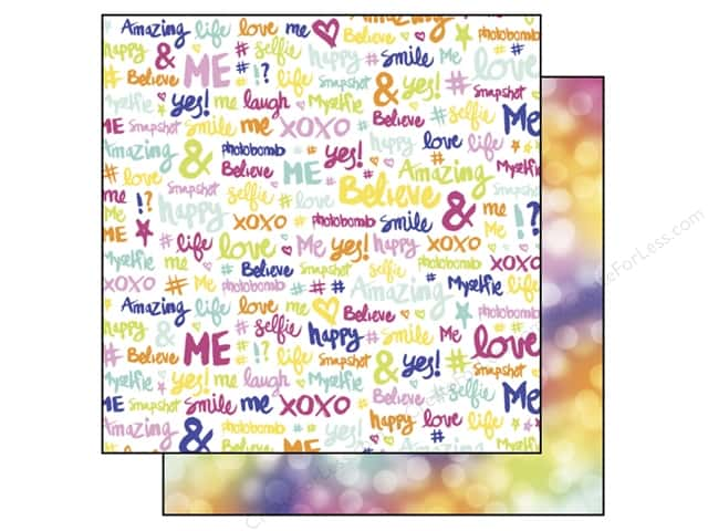 Echo Park 12 x 12 in. Paper #Selfie Collection Words (15 sheets)