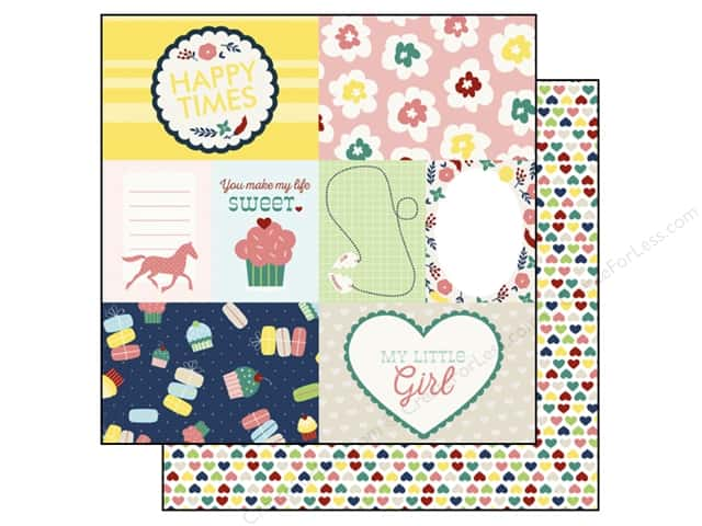 Echo Park 12 x 12 in. Paper My Little Girl Collection Journaling Cards (15 sheets)
