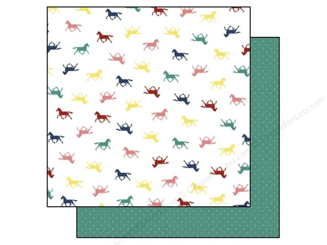 Echo Park 12 x 12 in. Paper My Little Girl Collection Little Horses (15 sheets)