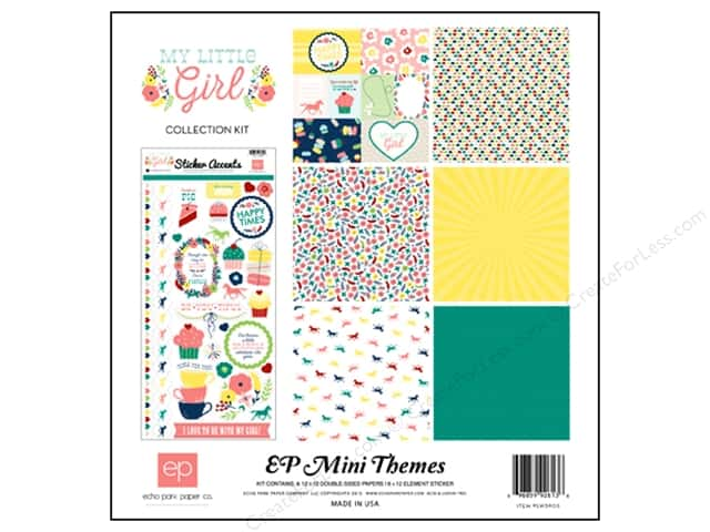 Echo Park 12 x 12 in. Collection Kit My Little Girl