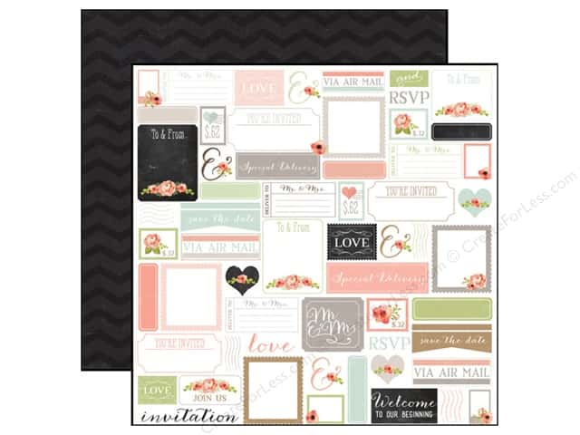 Carta Bella 12 x 12 in. Paper Rustic Elegance Labels (25 sheets)
