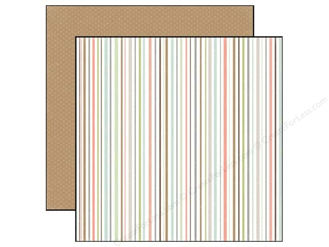 Carta Bella 12 x 12 in. Paper Rustic Elegance Multi Stripe (25 sheets)
