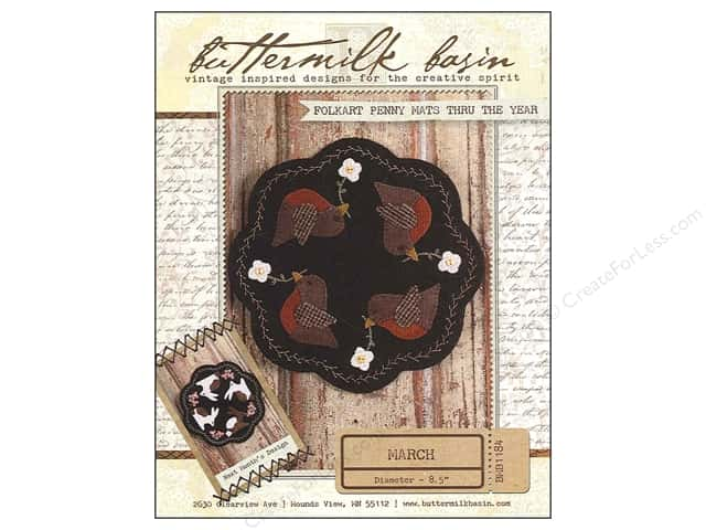 Buttermilk Basin Folkart Penny Mats Thru The Year March Pattern
