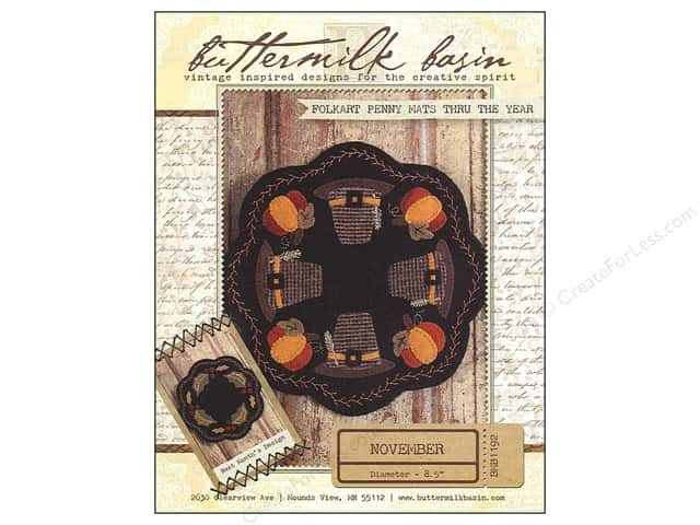 Buttermilk Basin Folkart Penny Mats Thru The Year November Pattern
