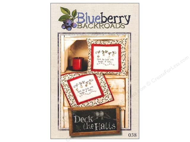 Blueberry Backroads Deck The Halls Pattern