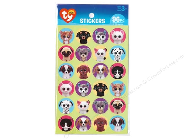Darice Sticker Beanie Boo Pet Paper 96pc