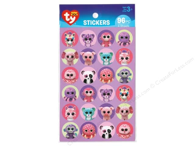 Darice Sticker Beanie Boo Girl Paper 96pc