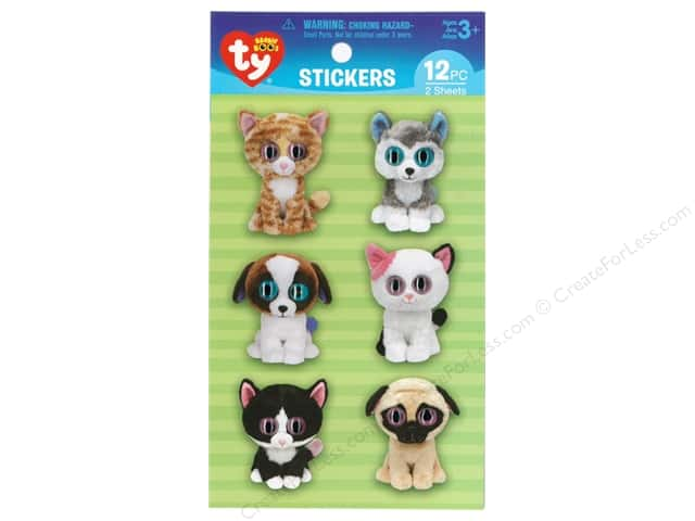 Darice Sticker Beanie Boo Pet Wiggle Eye 12pc