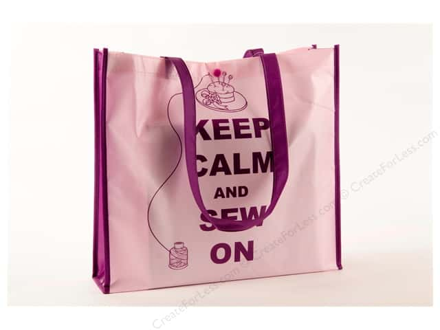 "Tacony Notions Shopping Tote 15""x 14""x 4"" Keep Calm"
