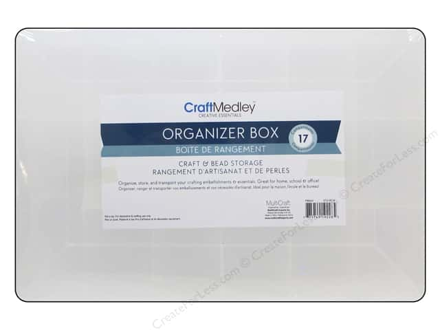 Multicraft Organizer Organizer Box Craft & Bead 17 Compartments
