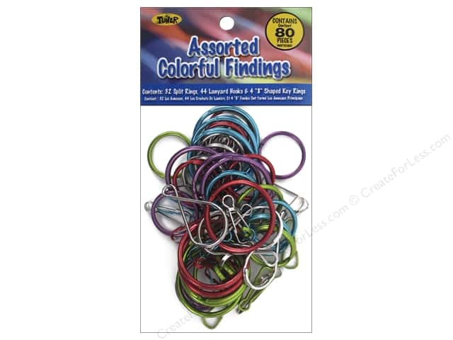 Toner Craft Lace Assorted Findings 80 pc. Colorful
