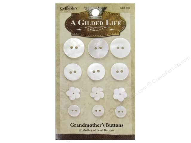Spellbinders A Gilded Life Grandmother's Buttons