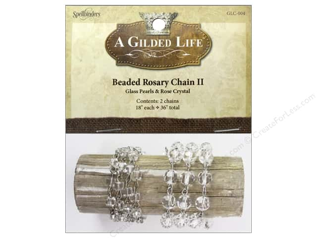 Spellbinders A Gilded Life Beaded Rosary Chains II